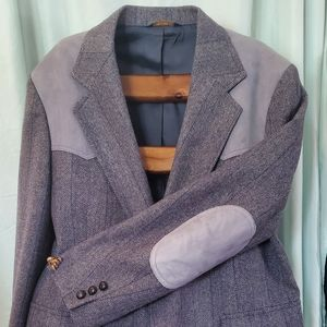 Men's Wool/Suede Pendleton Blazer